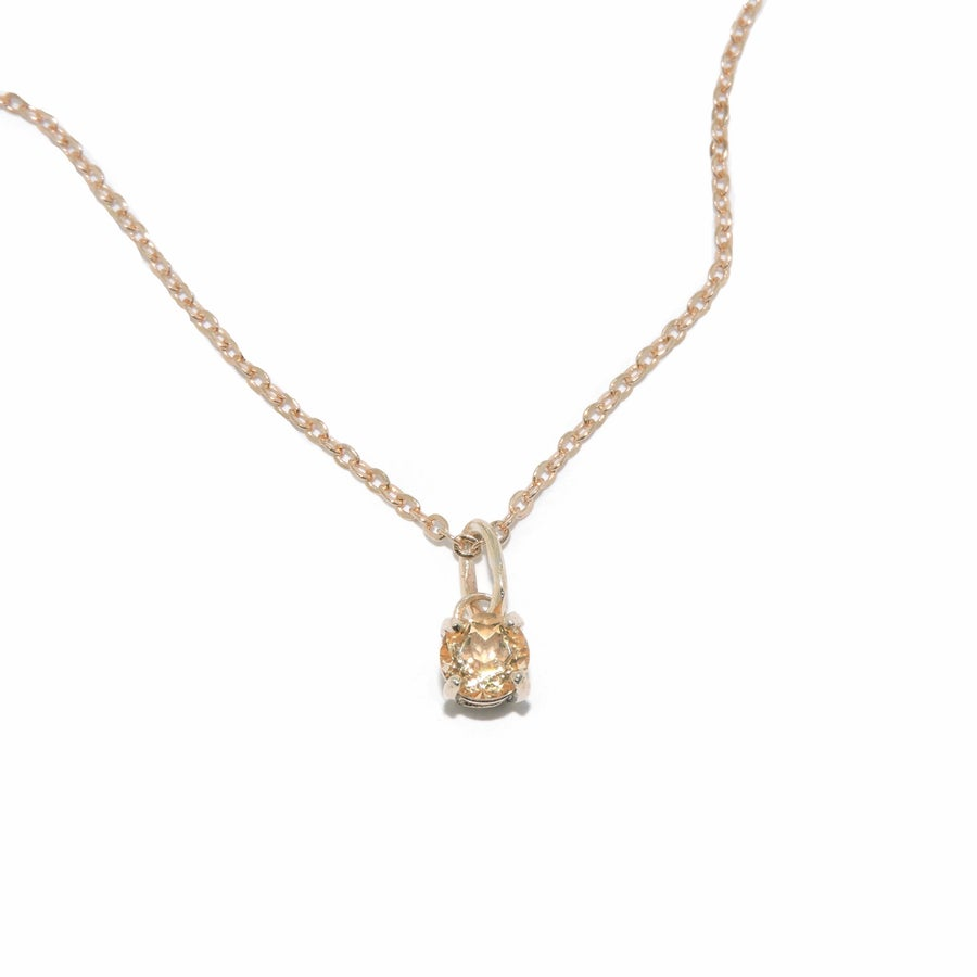 Image of citrine solitaire pendant