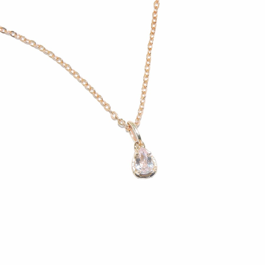 Image of morganite pear pendent
