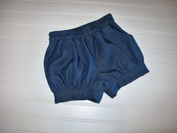 Image of Denim bubble shorts