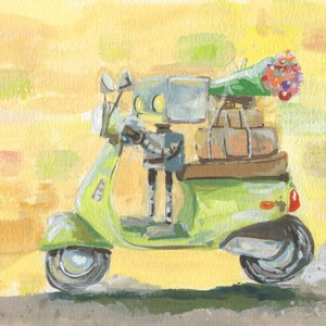 Scoot Scoot - Matt Q. Spangler Illustration