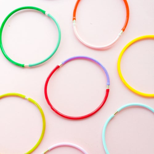 Image of Fruit loop bangles - rainbow