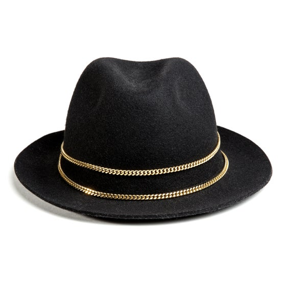 Image of BLACK TRILBY JAPPELOUP GOLD