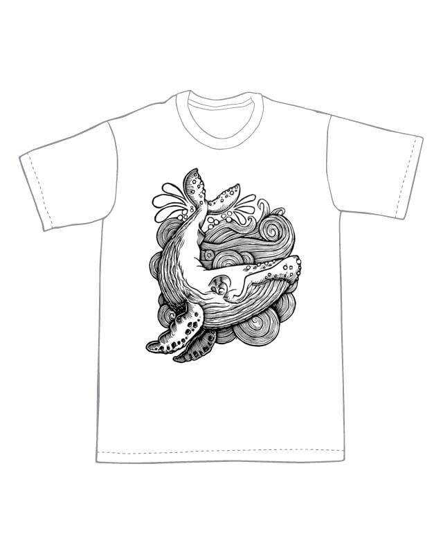 Humpback Whale T-shirt (B2) **FREE SHIPPING**