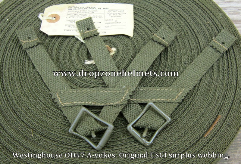 Image of WWII Airborne A-yokes for the Paratrooper Liners. Westinghouse. A-Straps OD#7