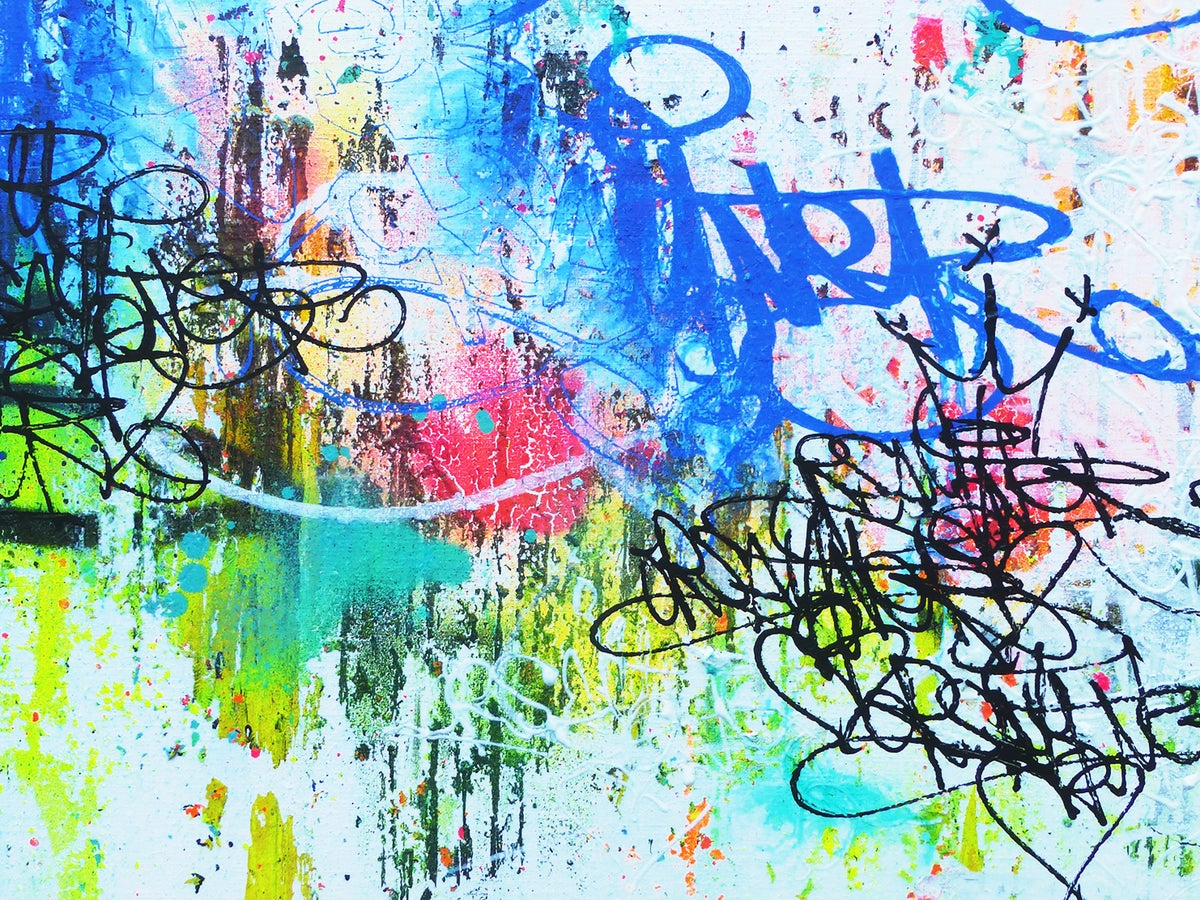 Image of ORSAY ONER (since 1989) BLUE PARADISE SERIAL TAGS & ABSTRACT