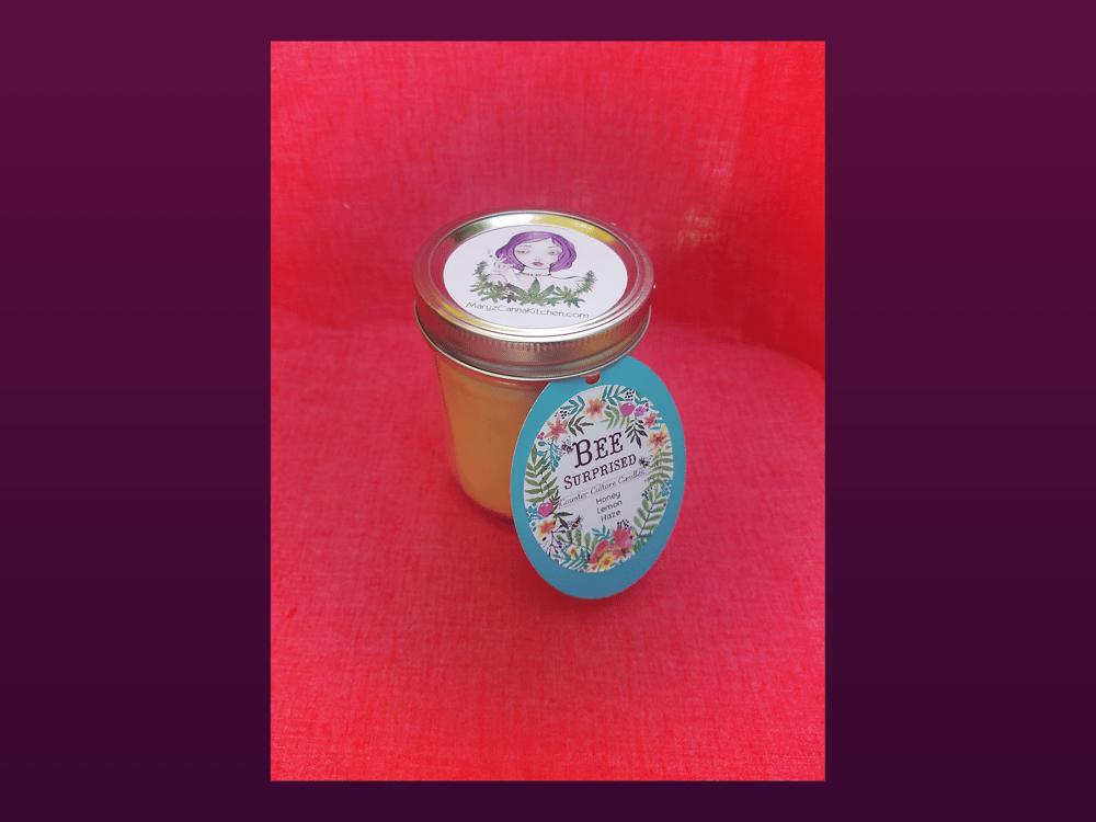 Image of Bee Surprised Counter Culture Candle~ Honey Lemon Haze 16oz