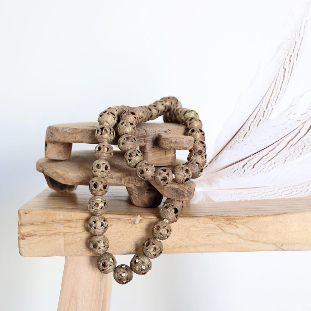 Image of Bronze Ball Baule Necklace