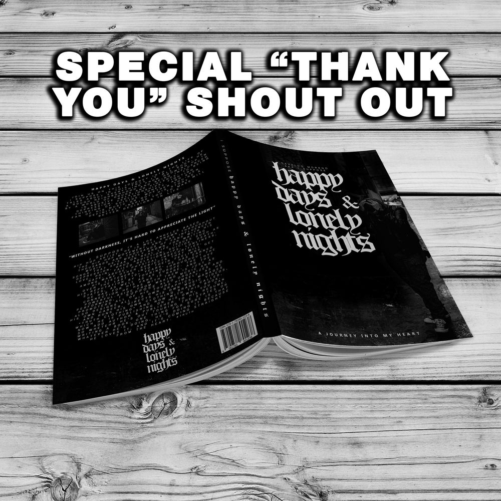 "Image of SHOUT OUT EDITION | ""Happy Days & Lonely Nights"" book"