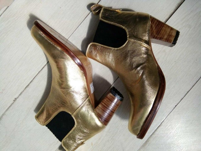 Image of MARYLOU BOOTS - METALLIC GOLD