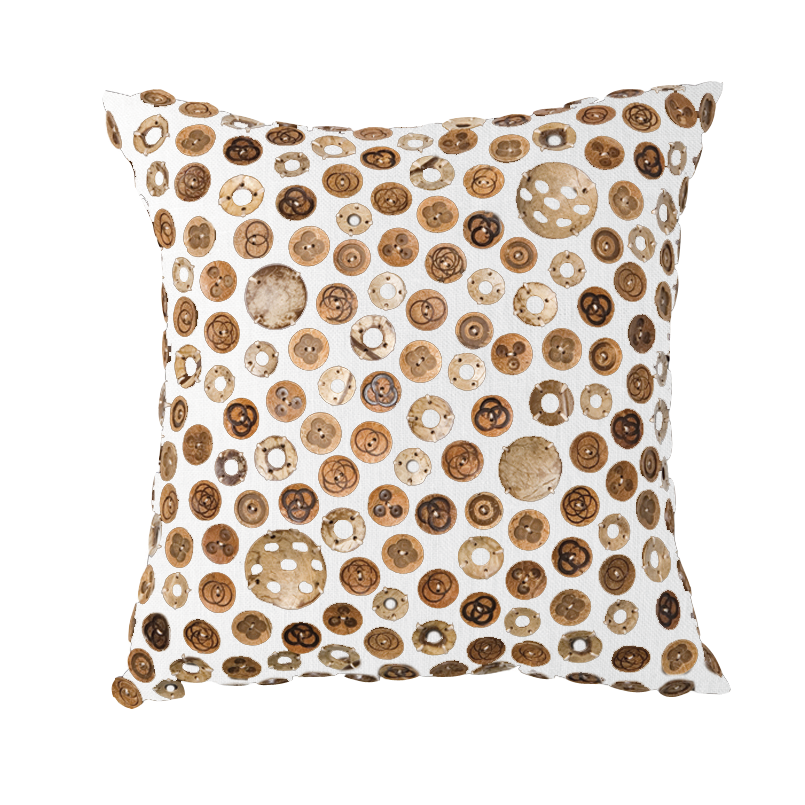 Image of Coconut Buttoned Cushion