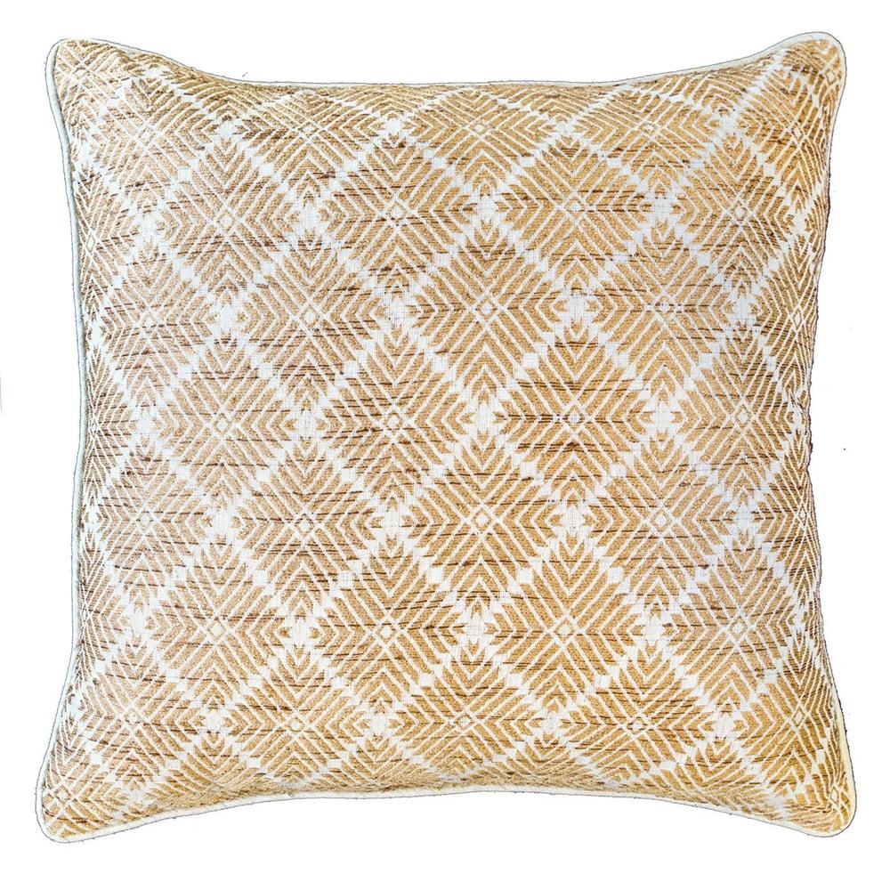 Image of Phulkari Natural Cushion