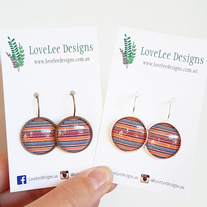 Image of Earrings - Tribal Stripes