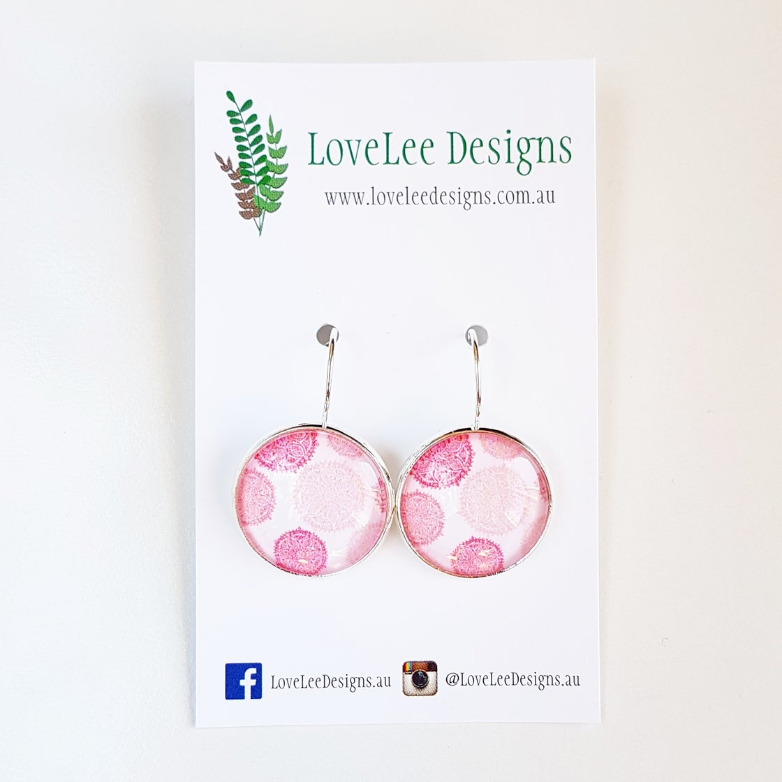 Image of Earrings - Pink Mandalas