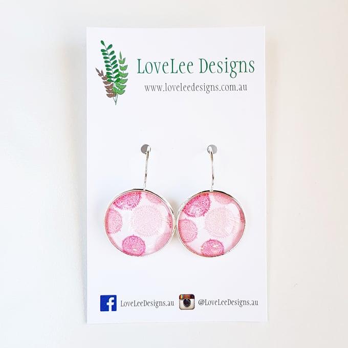 Image of Earrings - Pink Mandalas
