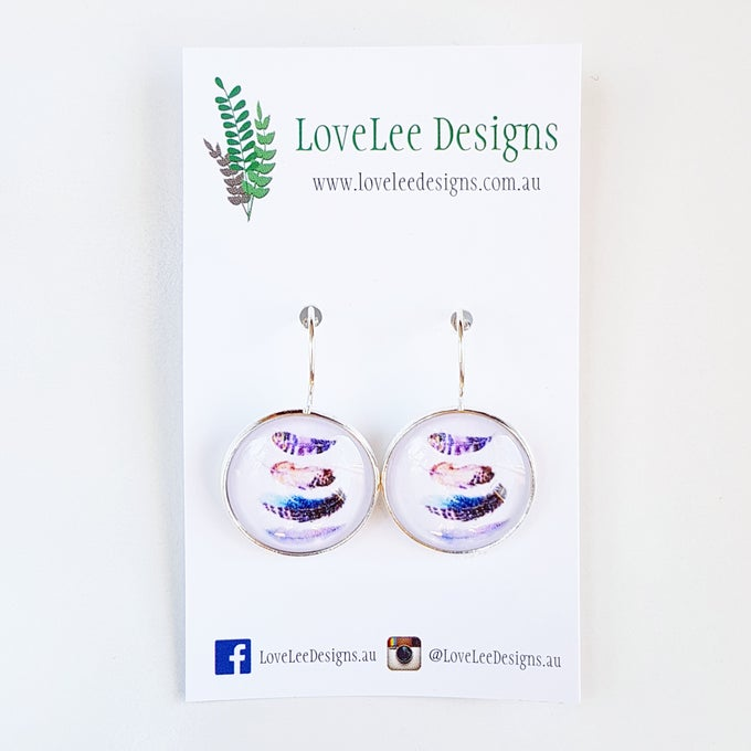 Image of Earrings - Floating Feathers