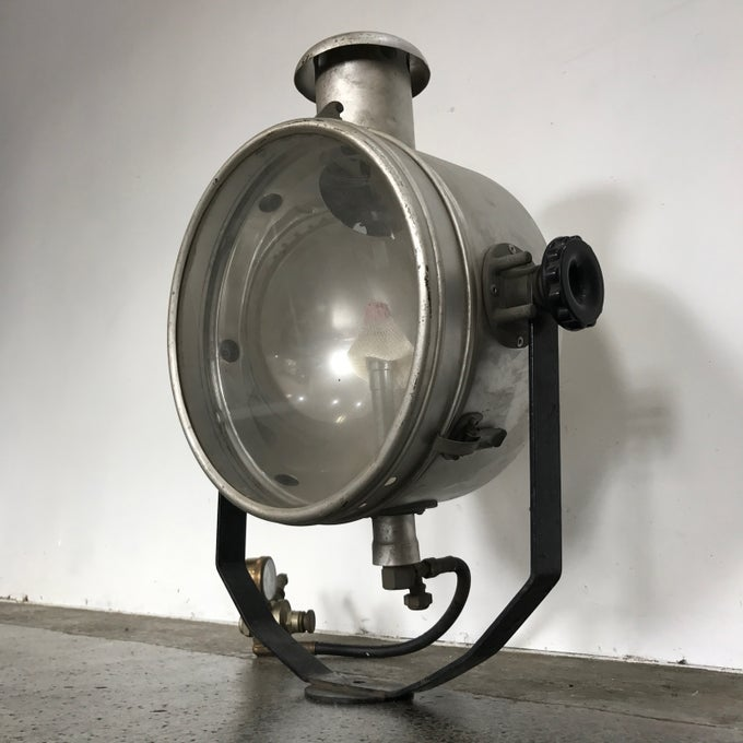 Image of 1950s GAS FLOOD LAMP