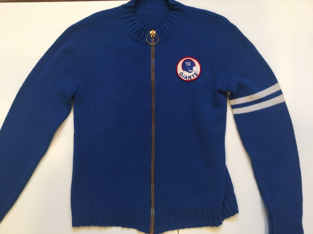 Image of Vintage NY Giants Full Zipper Sweater 1950's