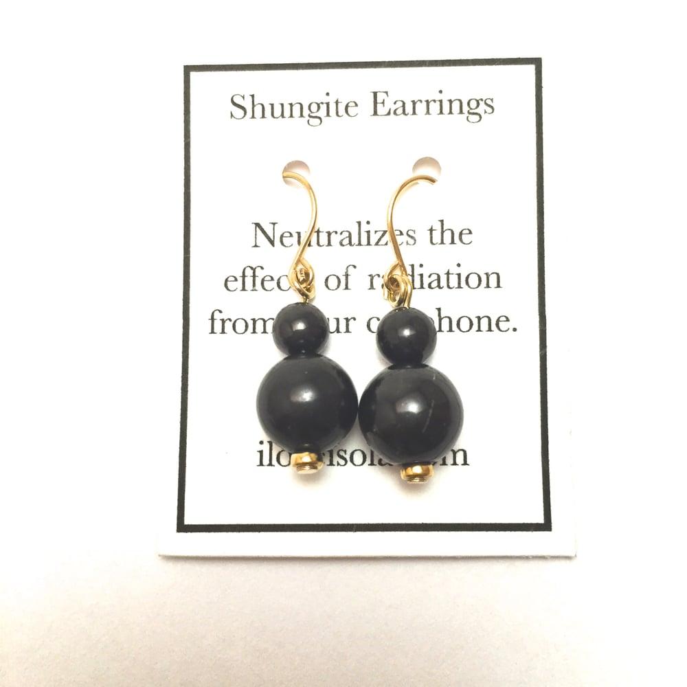 Image of 'Balance' Shungite Earrings