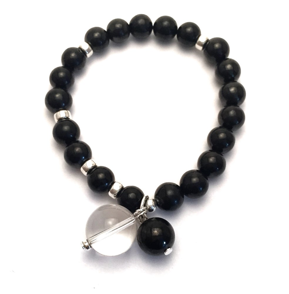 Image of Grounded & Clear Wrist Mala Silver