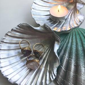 Image of Spirit Shells - Aqua / Silver Tones