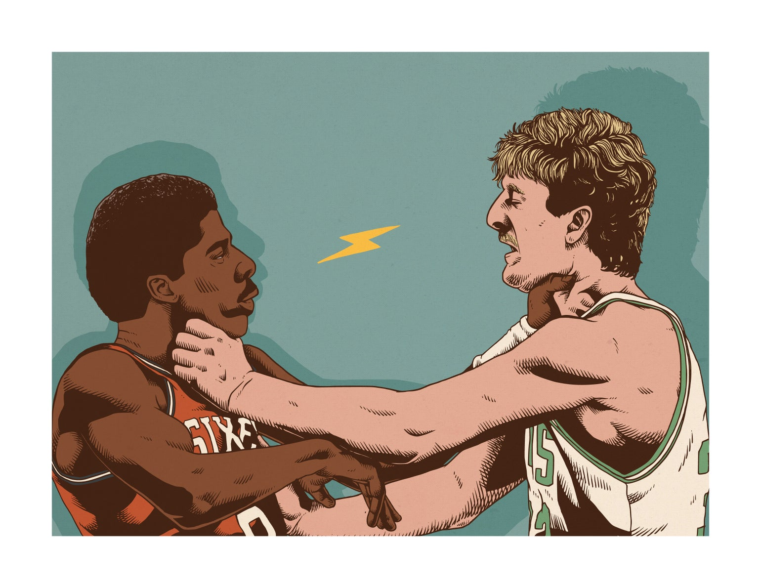 Image of Dr.J vs Larry Bird