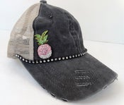 Image of Acid Washed Brushed Cotton Trucker Crystal Pink Pineapple