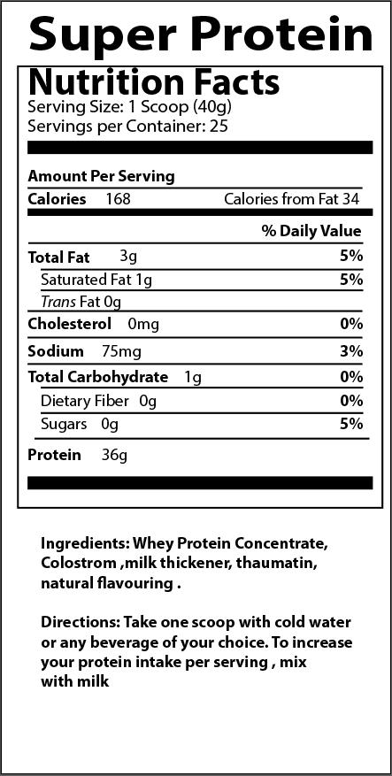 Image of Super Protein Vanilla