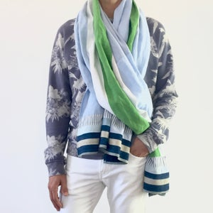"Image of ""SURFBOARD STRIPE"" BEACH WRAP"