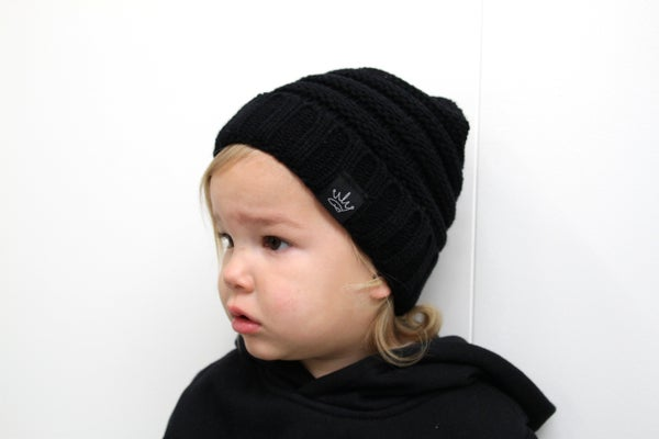 Image of BAMBINO & ADULTS KNIT BEANIE - From $19.00