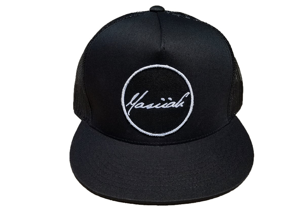 Image of Script Patch Mesh Snapback (black)