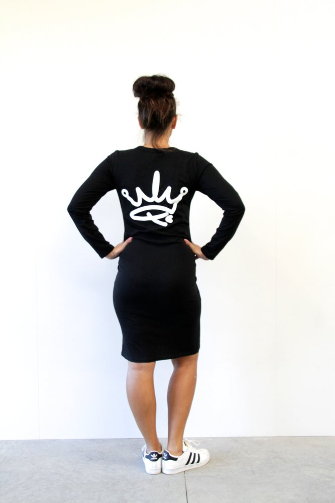 Image of ROYALTY DRESS - BLACK