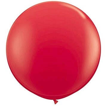 Image of Giant Round Balloons - Scarlet Red