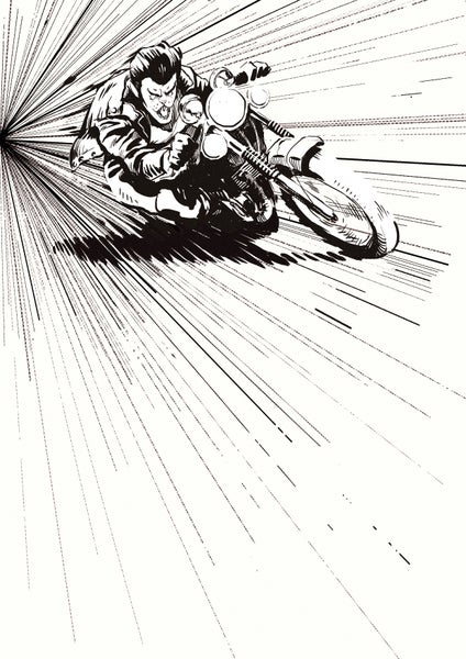 Image of Ride Like Hell- A3 Print