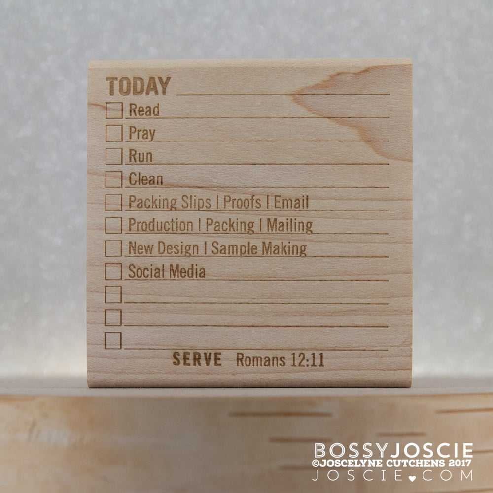 Image of Daily Post it Note Stamp