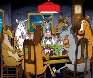 Image of Horses Playing Poker