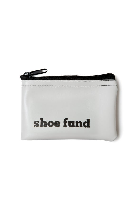 Image of Shoe Fund vinyl zip pouch