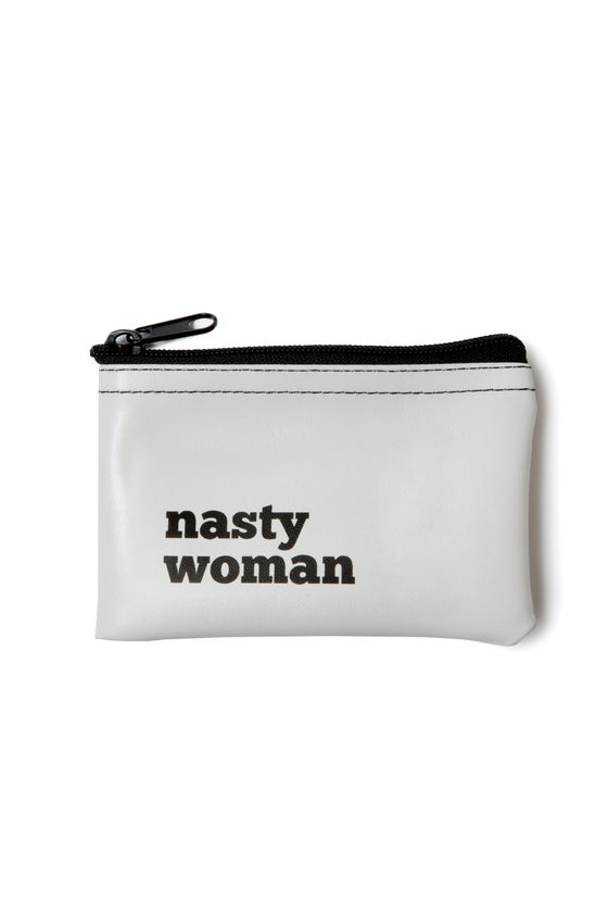 Image of Nasty Woman vinyl zip pouch