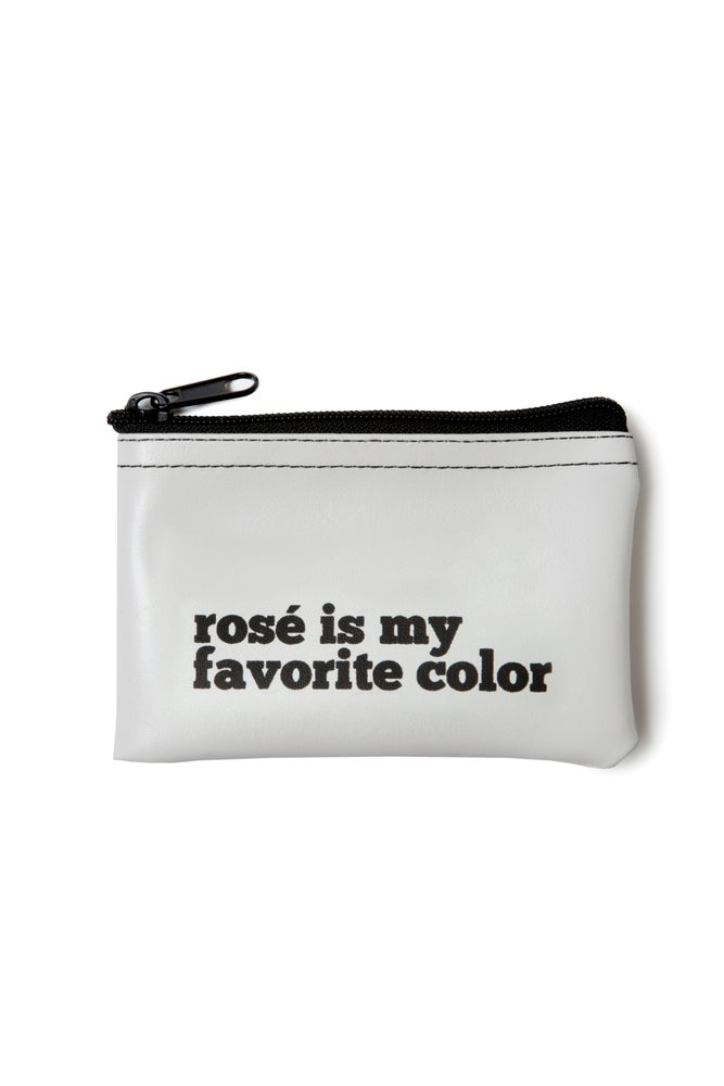 Image of Rosé is My Favorite Color vinyl zip pouch