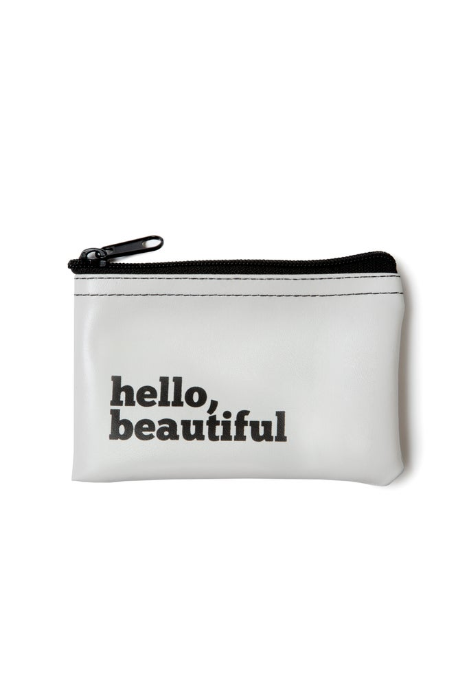 Image of Hello, Beautiful vinyl zip pouch