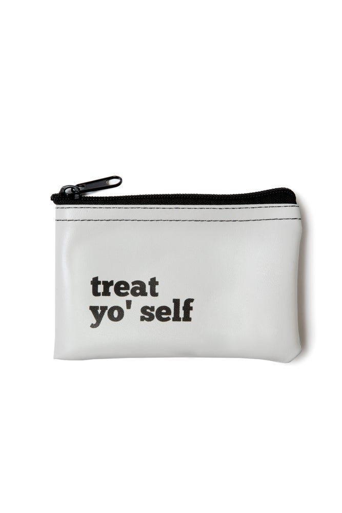 Image of Treat Yo' Self vinyl zip pouch