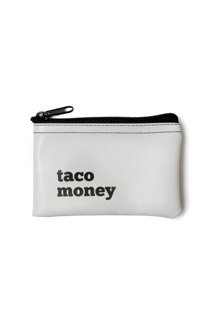 Image of Taco Money vinyl zip pouch