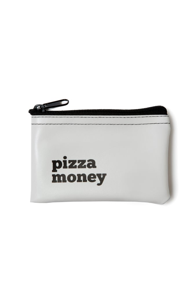 Image of Pizza Money vinyl zip pouch