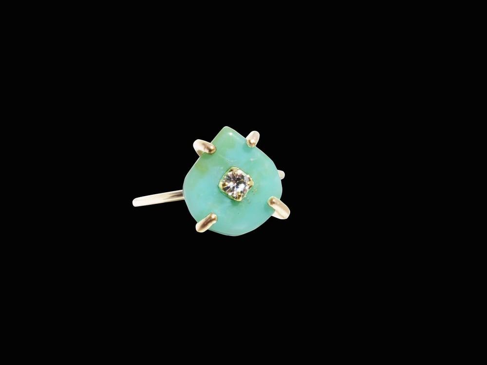 Image of Peruvian Opal Drop Ring