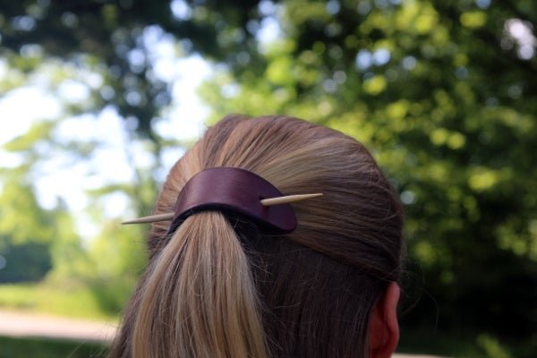 Image of Leather Hair Piece