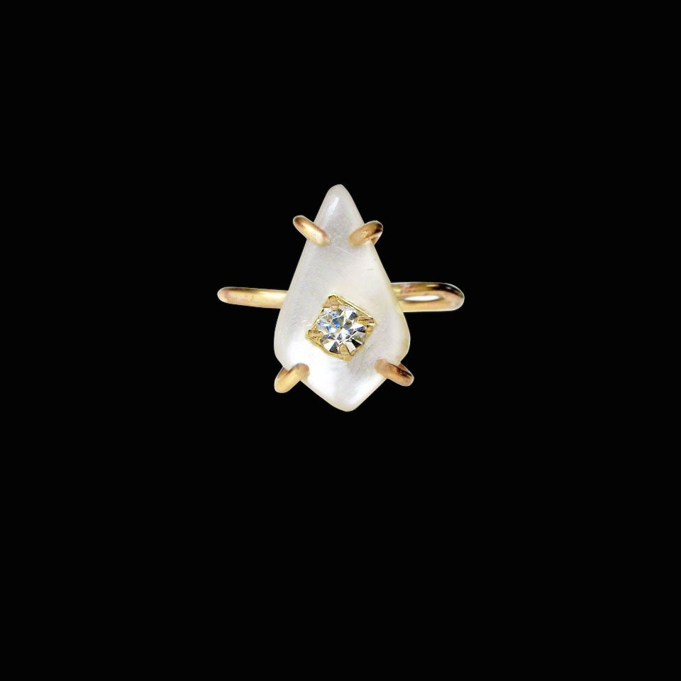 Image of Mother of Pearl Triangle Ring