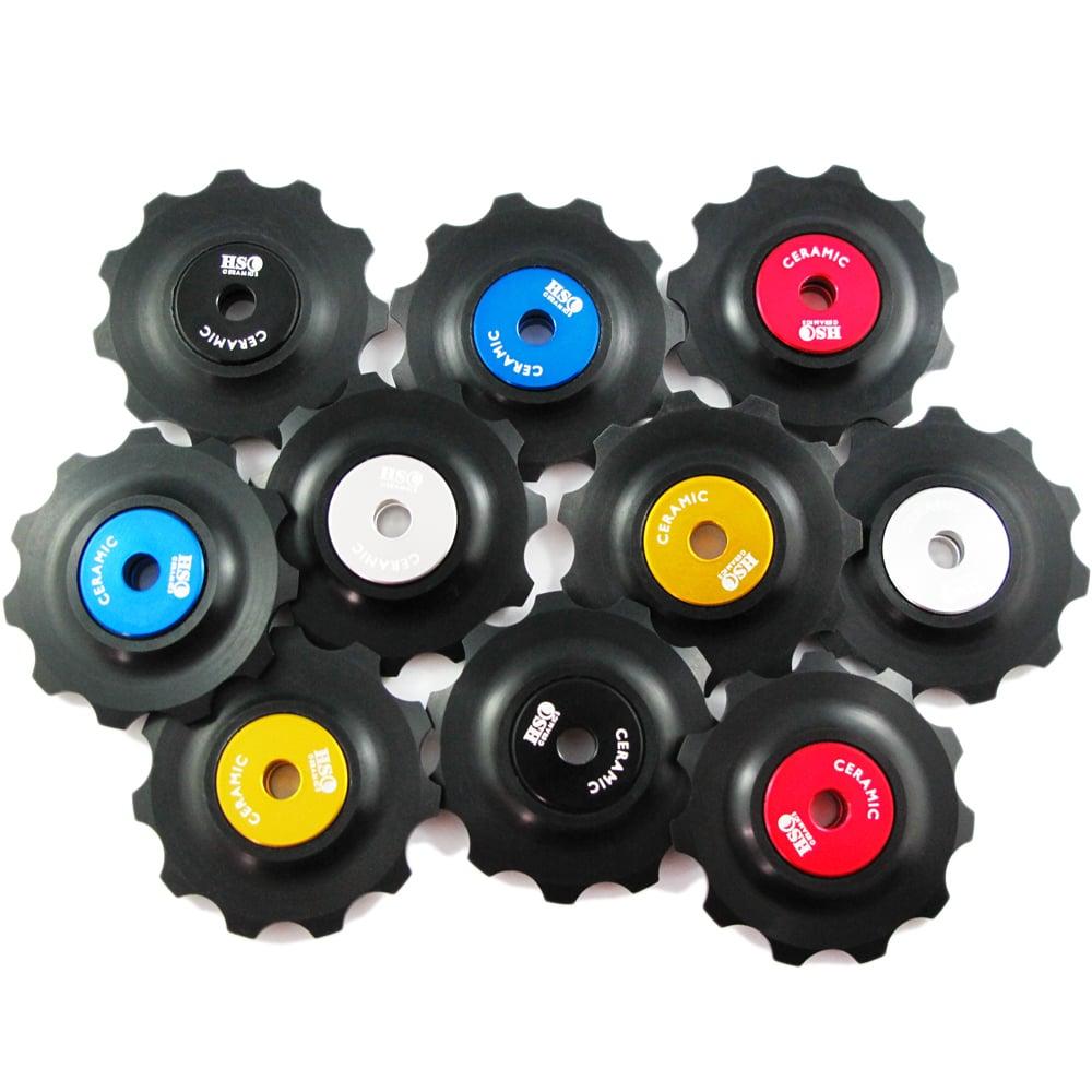 Image of 2017 Ceramic Jockey Wheel Set - 11T Plastic Wheels