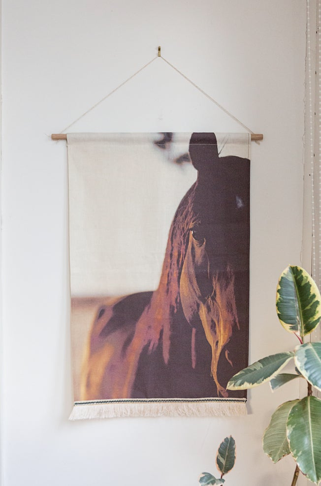 Image of Copper Horse Wall Banner