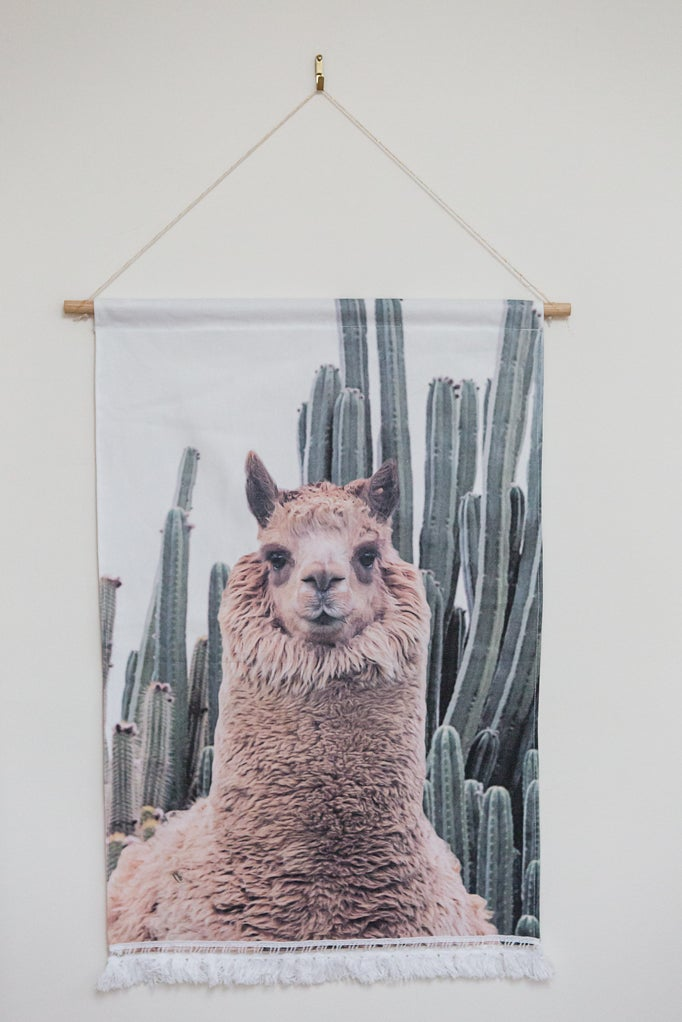 Image of Alpaca Wall Banner