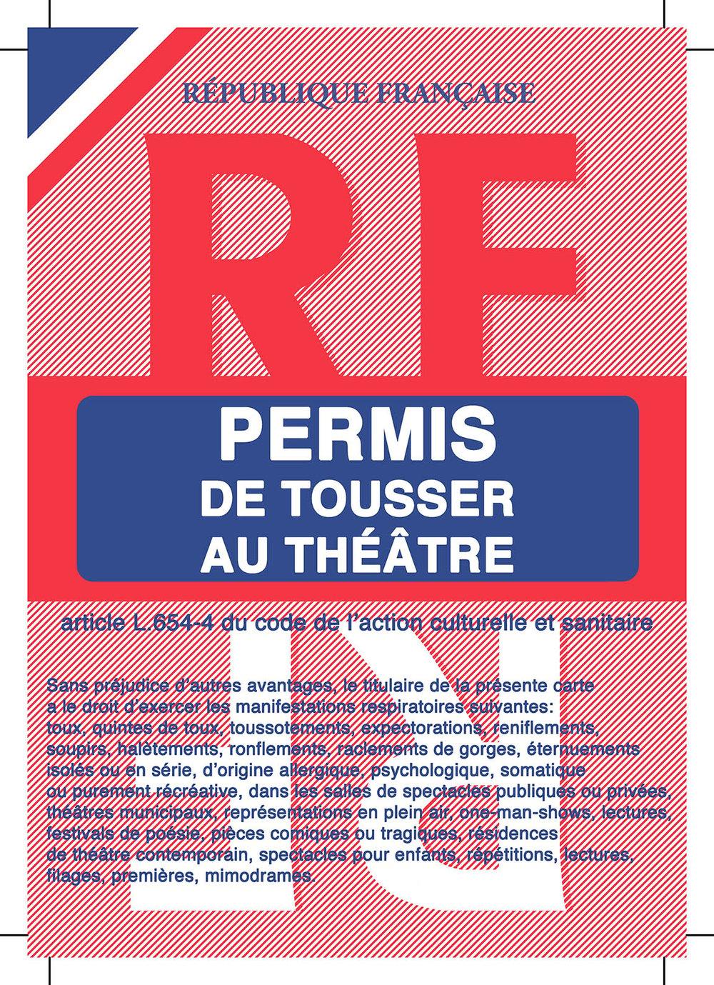 Image of Permis de tousser au théâtre