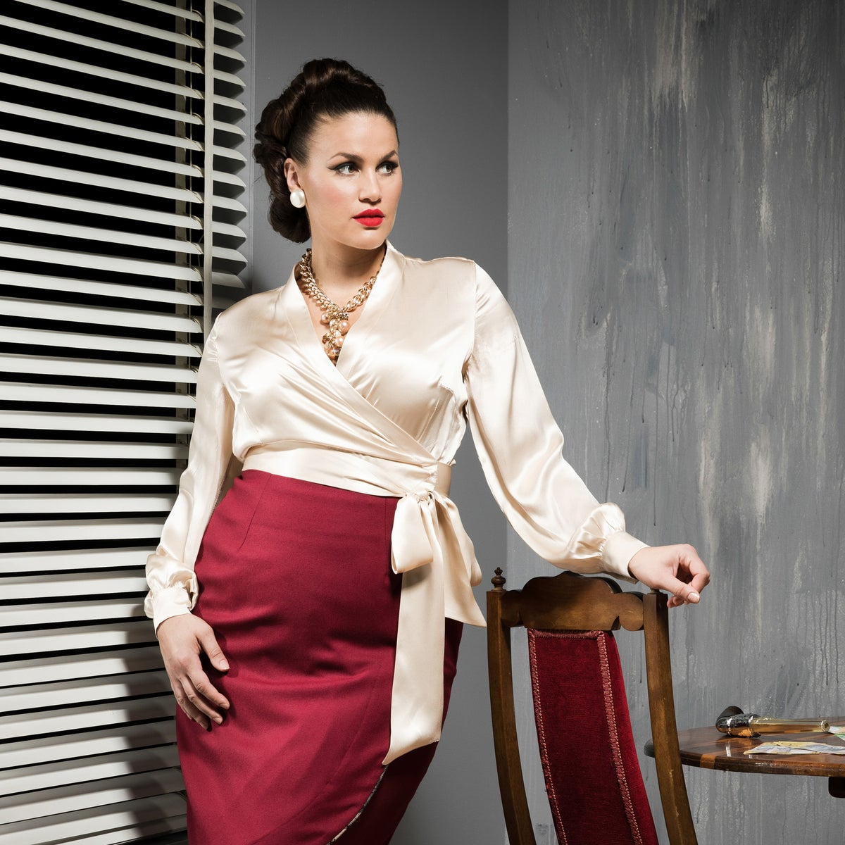 Image of UPPER EAST SIDE SILK BLOUSE 2 (other options available)